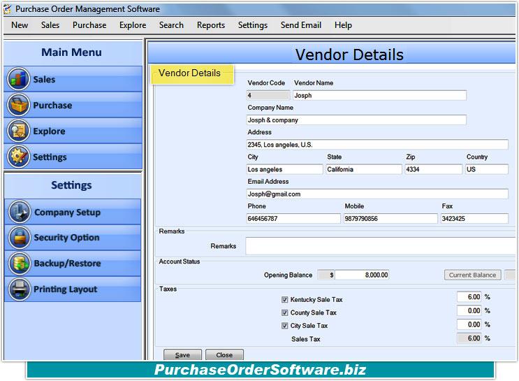 Sale/Purchase Software V1.0